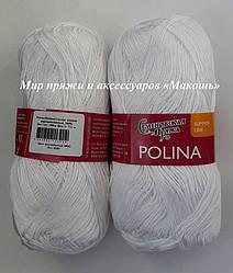 Polina (Полина) Семеновская пряжа, 964, белый