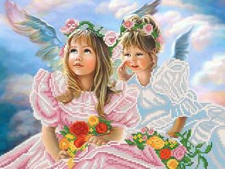 Ангельский шепот, РКП-334, Ткань с рисунком для вышивания бисером