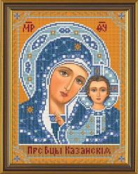 Богородица Казанская, схема для вышивки бисером