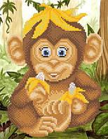Веселая обезьянка РКП-4-055 Схема на ткани для вышивки бисером, ТМ Марічка