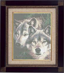Волки, ЖБп3-3 Схема на ткани для вышивки бисером