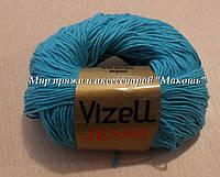 Всесезонная пряжа Джинс Визель, № 511\1, голубая бирюза