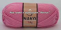 Детская пряжа Super bebe Супер бэби Нако, 4430, розовый