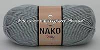 Детская пряжа Super bebe Супер бэби Нако, 4895, серый