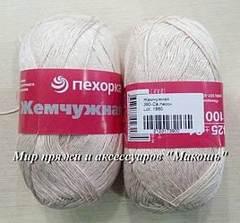 Пряжа Жемчужная Пехорка, 390, светлый песок