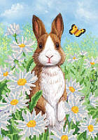 Забавный кролик, РКП-4-053 Схема на ткани для вышивки бисером Маричка