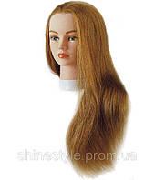 Тренировочная голова для парикмахеров SІbel 60 см блондин (0040601)