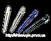 Зажимы цветные алюминий+пластик 10 см 12шт
