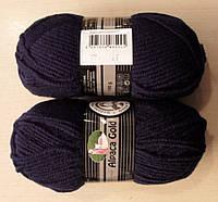 Зимняя пряжа Альпака голд  Мадам Трикот, 0019, т. синий