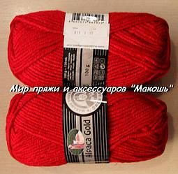 Зимняя пряжа Альпака голд  Мадам Трикот, 033, красный