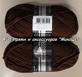 Зимняя пряжа Альпака голд  Мадам Трикот, 083, шоколад