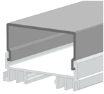 Рассеиватель для LED-профилей  прямоугольный
