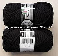 Зимняя пряжа Альпака голд Мадам Трикот, 999, черный