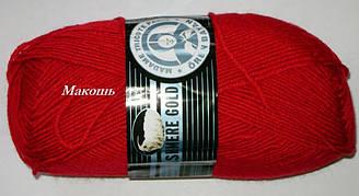 Зимняя пряжа Кашемир голд 034, красный