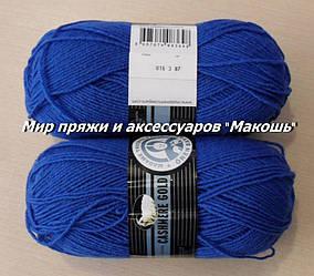 Зимняя пряжа Мадам Трикот, Кашемир голд  016, синий