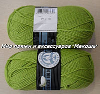 Зимняя пряжа Мадам Трикот, Кашемир голд  065, салат