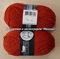 Зимняя пряжа Мадам Трикот, Кашемир голд 107, терракот