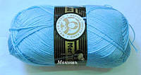 Зимняя пряжа Мадам Трикот, Мерино голд  012, голубой