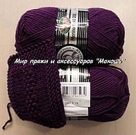 Зимняя пряжа Мерино голд 200 Мадам Трикот, 060, фиолет