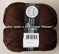 Зимняя пряжа Мерино голд 200 Мадам Трикот, 083, шоколад