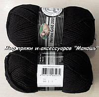 Зимняя пряжа Мерино голд 200 Мадам Трикот, 999, черный