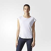 Белая женская футболка для бега TOKYO B28281 адидас - 2017