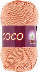 Летняя пряжа Сосо Vita Cotton, № 3883, персик