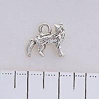 Фурнитура подвеска Кошка, цвет серебро