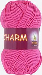 Пряжа Charm (Vita Cotton), № 4155, фуксия