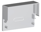 Заглушка для LED-профилей  прямоугольная