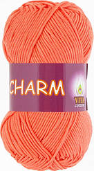 Пряжа CHARM (Vita Cotton), № 4196, оранжевый коралл