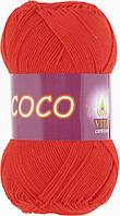 Пряжа Coco (Vita Cotton), 4319, алый