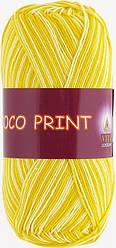 Пряжа COCO PRINT (Vita Cotton), № 4677, лимонный