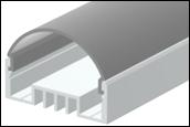 Рассеиватель для LED-профилей  радиальный