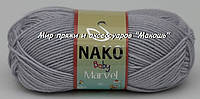 Пряжа Marvel baby Марвел бэби Нако, 10020, серый