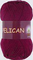 Пряжа Pelican (Vita Cotton), № 3955, бордо