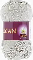 Пряжа Pelican (Vita Cotton), № 3965, серый