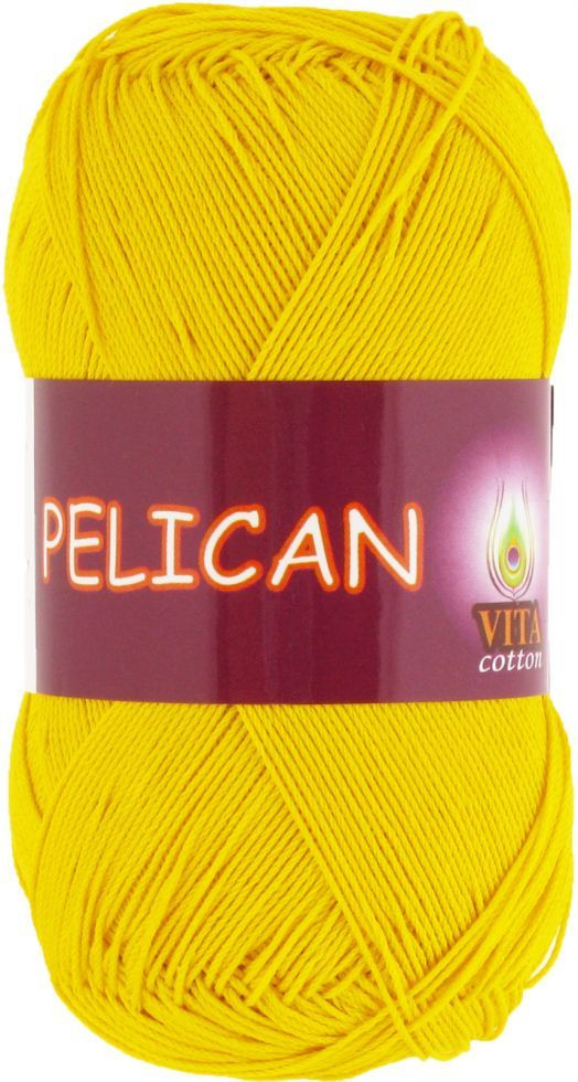 Пряжа PELICAN (Vita Cotton), № 3998, желтый
