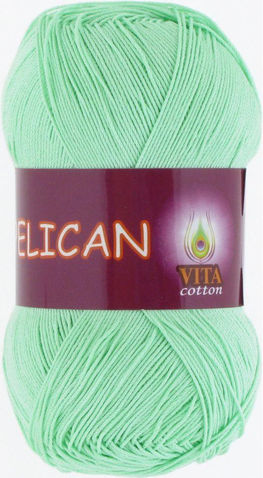 Пряжа Pelican Vita Cotton, № 3964, мята