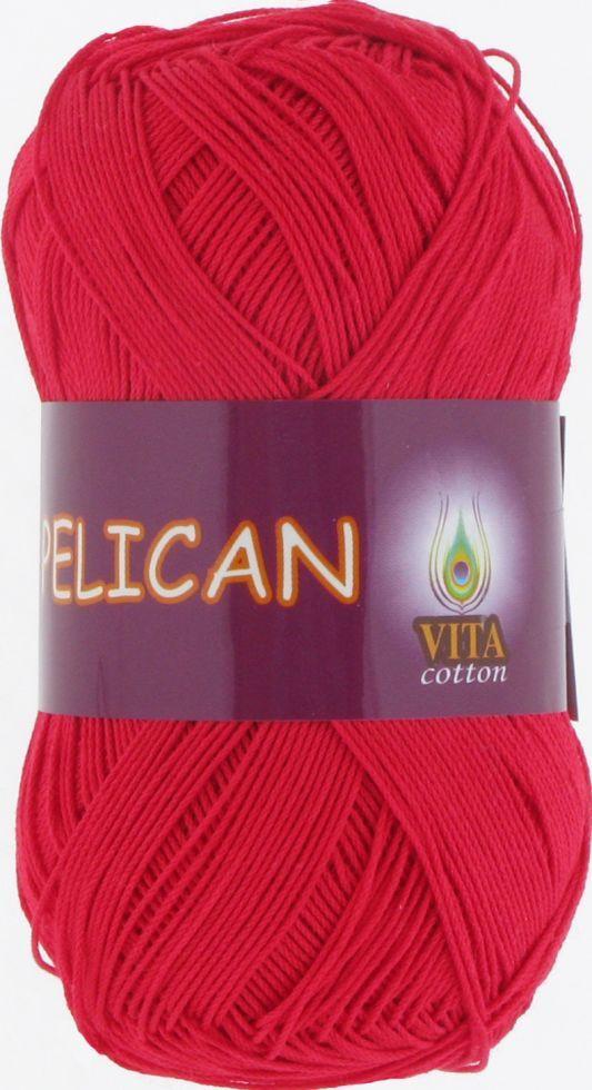Пряжа Pelican Vita Cotton, № 3966, красный