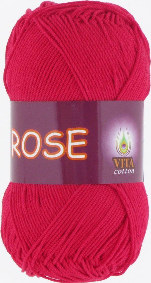 Пряжа Rose Vita Cotton, № 3917, красный