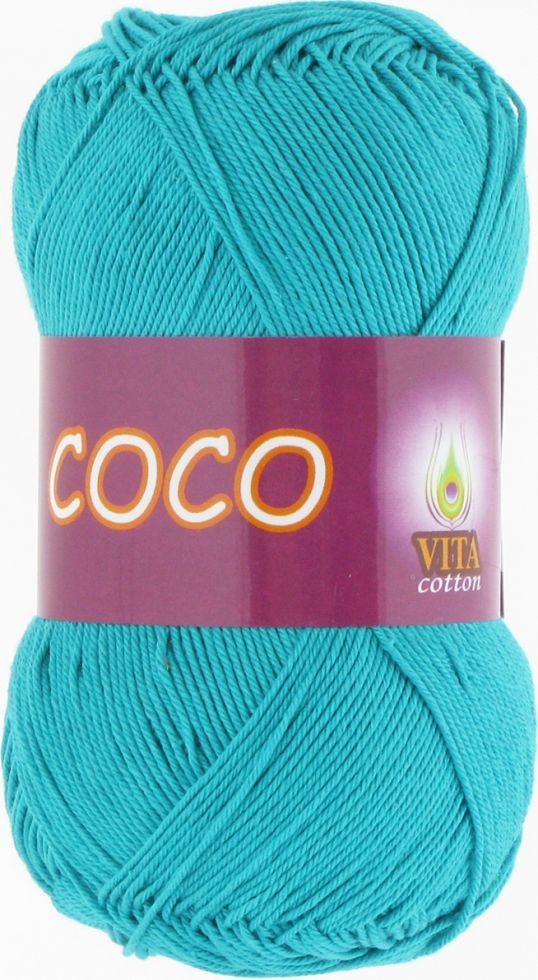 Пряжа Vita Cotton Сосо, 4315, темная бирюза