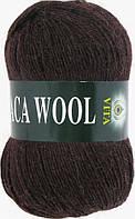 Пряжа Альпака вул Alpaca wool Vita, 2955, коричневый