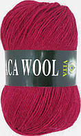 Пряжа Альпака вул Alpaca wool Vita, 2957, т. красный