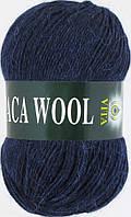 Пряжа Альпака вул Alpaca wool Vita, 2962, т. синий