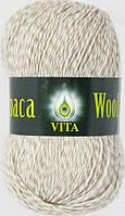 Пряжа Альпака вул Alpaca wool Vita, 2987, св. бежевый меланж