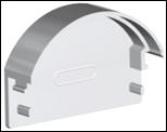 Заглушка для LED-профилей  радиальная
