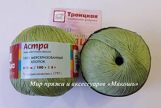 Пряжа Астра Троицкая, зеленое яблоко