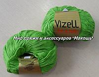 Пряжа Джинс Vizell, № 442, св. зеленый