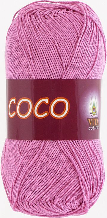 Пряжа для вязания Сосо Vita Cotton, № 4304,  розовый
